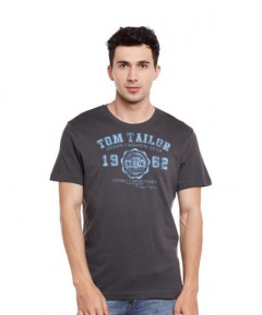 TOM TAILOR Mens T-Shirt (DARK GRAY) (S - M - L - XL - 2XL - 3XL)