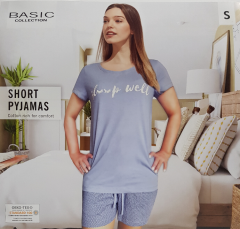BASIC COLLECTION Ladies 2 Pcs Pyjama Set (WHITE) (S- M - L - XL)