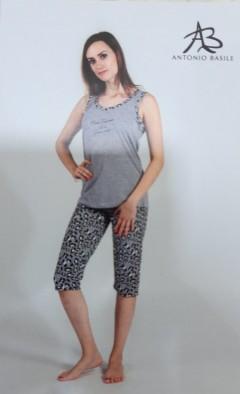 ANTONIO BASILE BASILE Ladies 2Pcs Shorty Nightwear Set (GRAY) (S - M - L - XL)