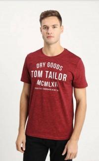 TOM TAILOR Mens T-Shirt (MAROON) (S - M)
