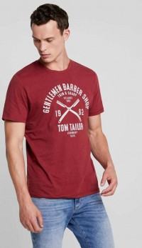 TOM TAILOR Mens T-Shirt (MAROON) (S - M - L)