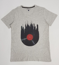 BASIC COLLECTION Mens T-Shirt (GRAY) (S - M - L - XL)