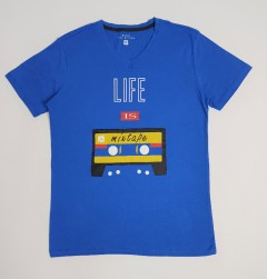 BASIC COLLECTION Mens T-Shirt (BLUE) (S - M - L - XL)